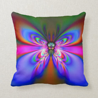 Blue Night Butterfly American MoJo Pillow