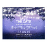 blue night lights romantic save the date