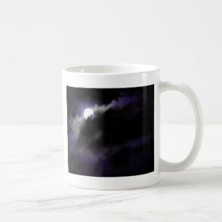 Blue Night Sky Basic White Mug