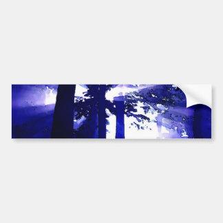 Blue Night Trees Bumper Sticker