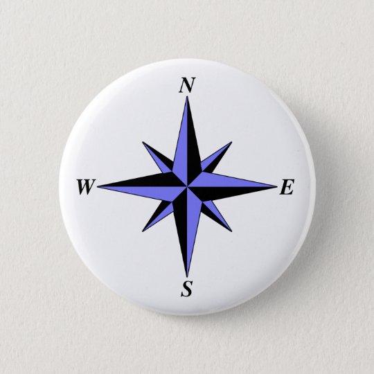 Blue North Arrow Button