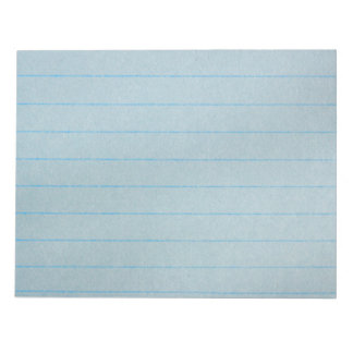 Blue Notebook Paper Notepad