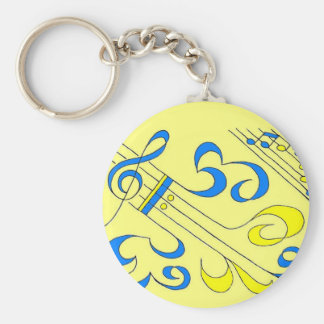 Blue Notes Keychains