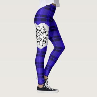 Blue Notes Plaid Leggings
