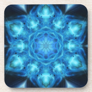 Blue Nova Mandala Beverage Coasters