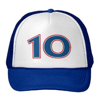 Blue Number 10 Cap