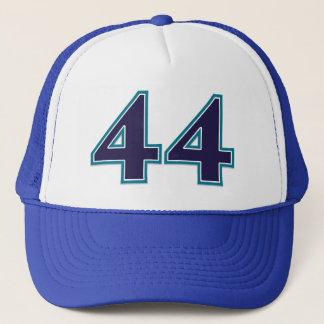Blue Number 44 Trucker Hat
