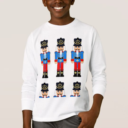 Blue Nutcracker Kids Hanes Long Sleeve T-Shirt