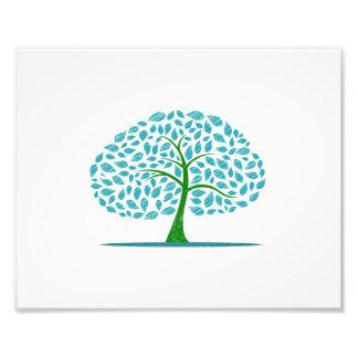blue oak tree scribbled design.png photo