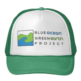Blue Ocean Green Earth- Green Trucker Hat