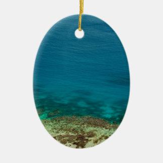 Blue ocean off Yasawas Island, Fiji Ceramic Oval Decoration
