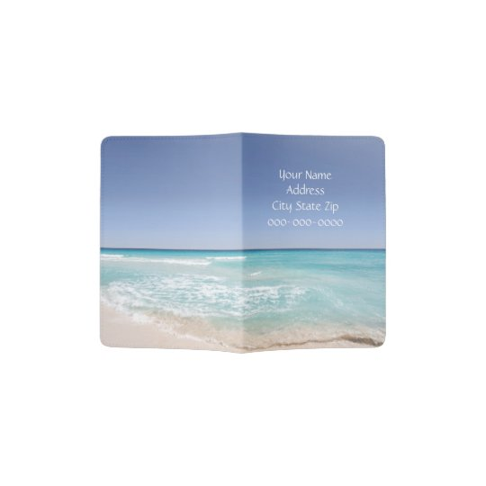 Blue Ocean Personalised Passport Cover