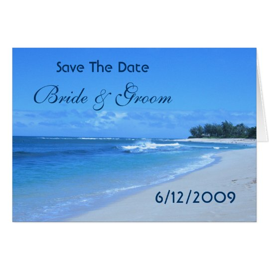 Blue Ocean Save The Date Card