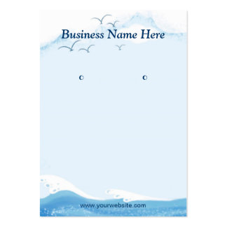 Blue Ocean Seagull - Earring Display Cards Pack Of Chubby Business Cards