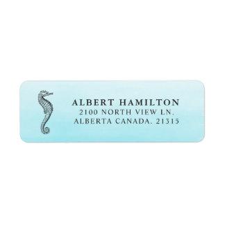 Blue Ocean Seahorse   Personalized Return Address Return Address Label