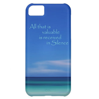 Blue Ocean Silence Abstract iPhone Case