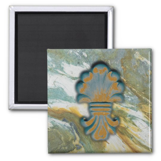 Blue Ocean Square Magnet