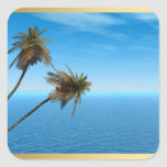 Blue Ocean Square Sticker