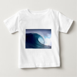 Blue ocean surfing wave baby T-Shirt