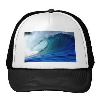 Blue ocean surfing wave cap