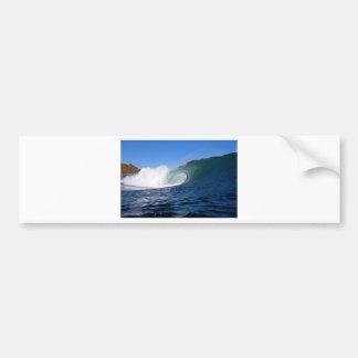 Blue ocean surfing wave Chile Bumper Sticker