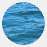 Blue Ocean Water Round Stickers