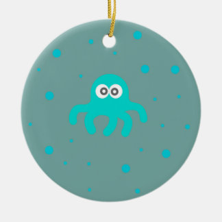 Blue Octopus Christmas Ornament