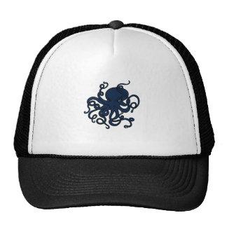 Blue Octopus Custom Design Trucker Hat