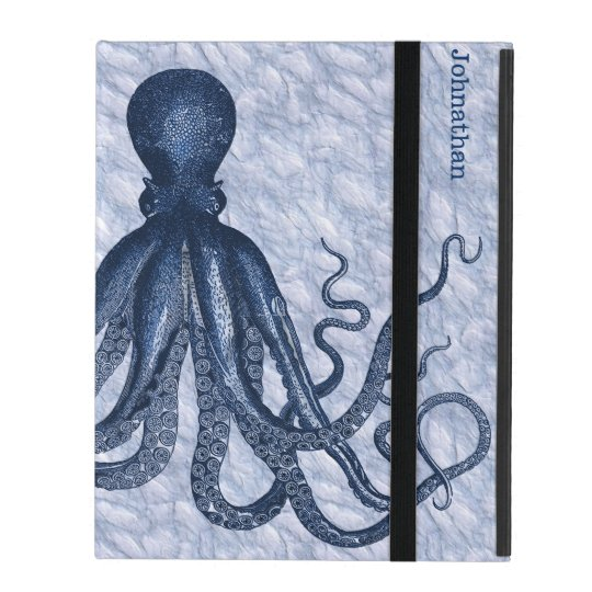Blue Octopus Custom iPad 2/3/4 Case