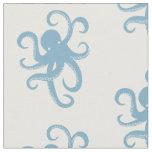 Blue Octopus Fabric