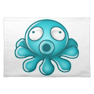 Blue Octopus Japanese Logo Placemat