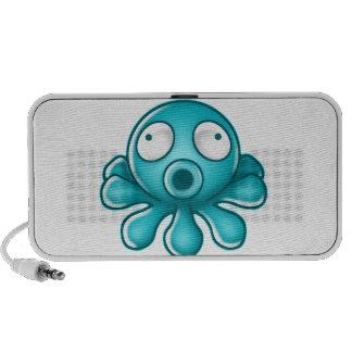 Blue Octopus Japanese Logo Notebook Speakers
