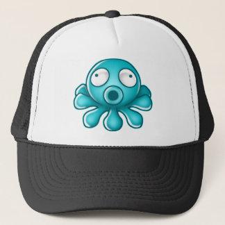 Blue Octopus Japanese Logo Trucker Hat