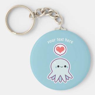Blue Octopus Key Ring