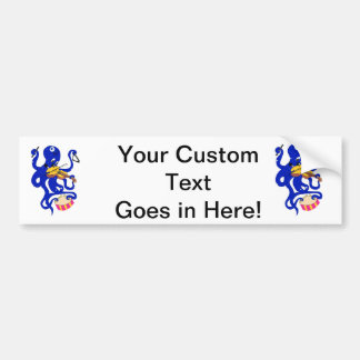 blue octopus playing multiple percussion.png bumper sticker