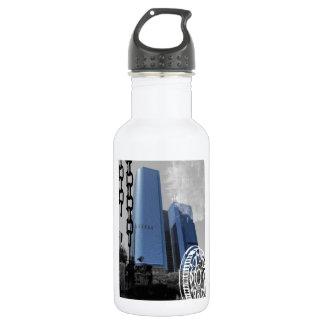Blue Office Buildings 532 Ml Water Bottle