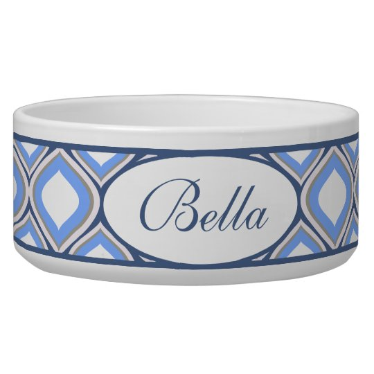 Blue Ogee Personalised Ceramic Dog Bowl