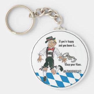 Blue Oktoberfest Personalized Keychains