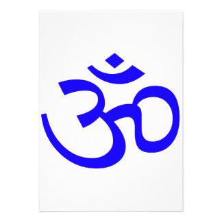 Blue Om or Aum ॐ.png Custom Invitations