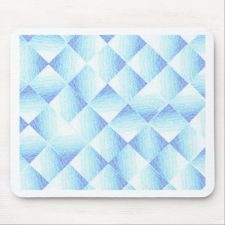 Blue Ombre Diamonds Mouse Pad