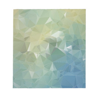 Blue Ombre Geometric Notepad