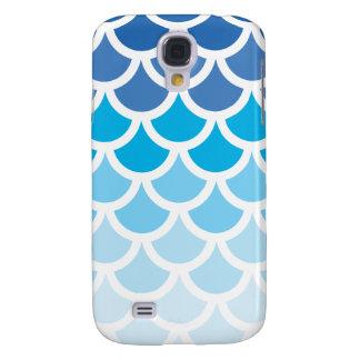 Blue Ombre Mermaid Scales Galaxy S4 Case