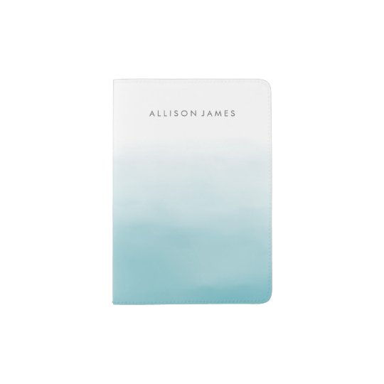 Blue Ombre Passport Holder