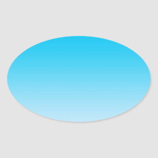 Blue Ombre Oval Sticker