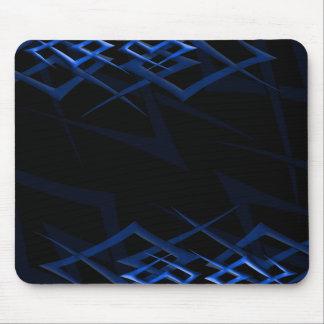 "Blue on Black ""Thorn"" Mousepad"