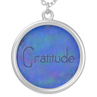 Blue on Blue Block Gratitude Necklace