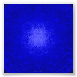 Blue on Blue Dots Photo Print