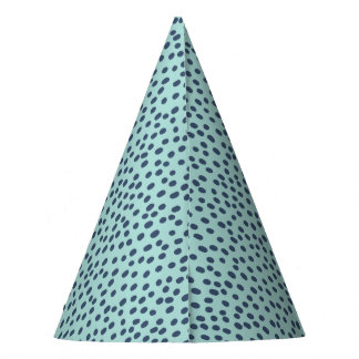 Blue on Blue Dotted Party Hat