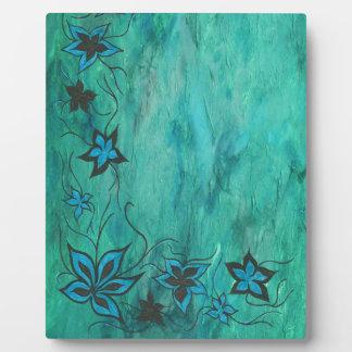 Blue on blue haze plaque
