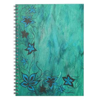 Blue on blue haze spiral notebook